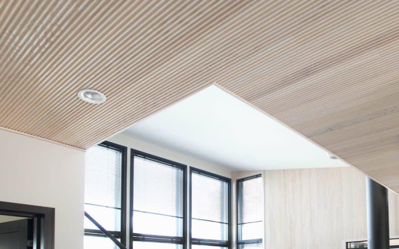 SIparila Kannustalossa on käytetty saarni VIRE-seinäpaneelia, Asuntomessut 2017