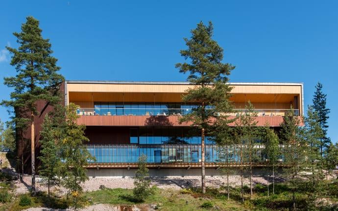 Siparila topcoat wood siding Haltia nature center