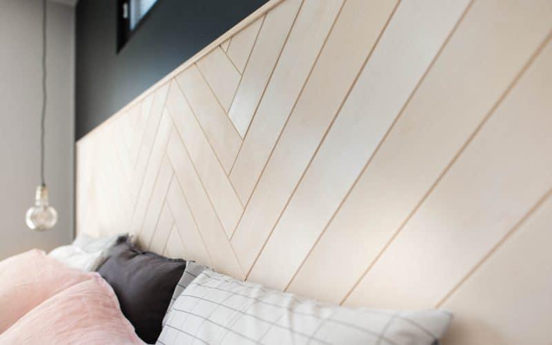 PALA-paneelin ruoto-muotoilu on käytetty sängynpäätyyn