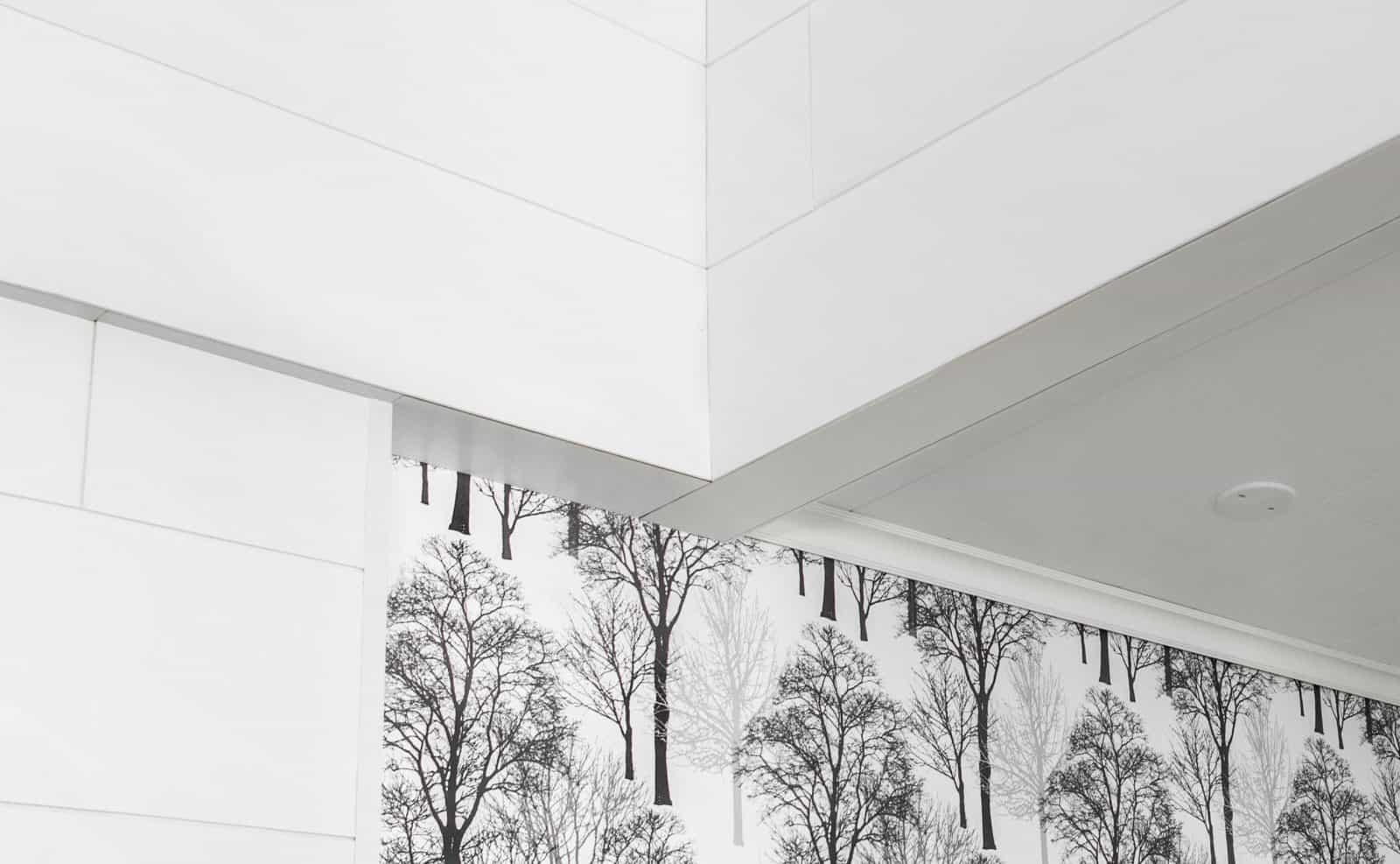Siparila AITO-sisustuspaneeli 12x28, valkoinen, Vesanka