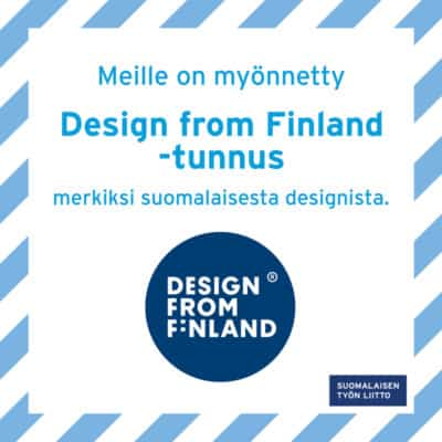 Siparilalle on myönnetty Design from Finland tunnusd