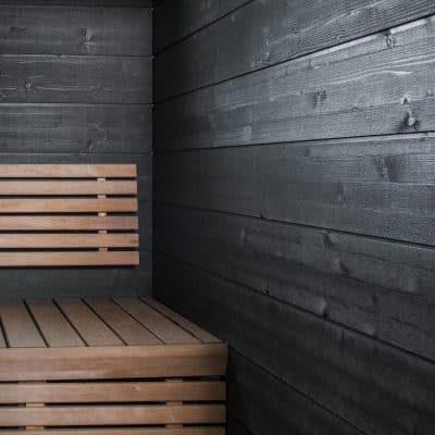 Moderni sauna helmiäisharmaa paneeli