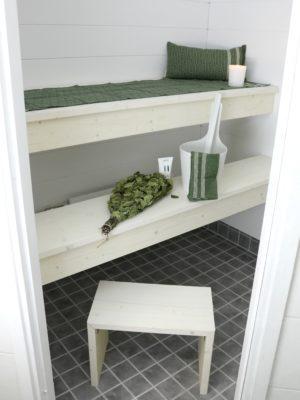 modernin saunan lauteet