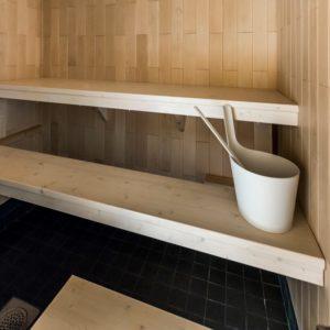 sauna bench board, translucent white