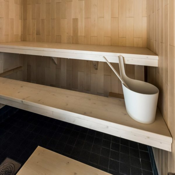 sauna bench board, translucent white