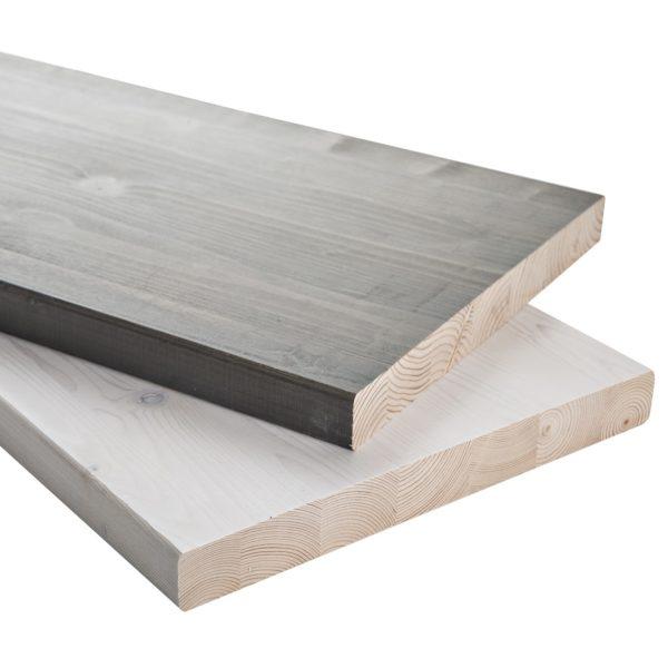sauna bench board, white gray