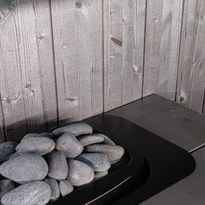 Moderni sauna helmiäisruskea paneeli